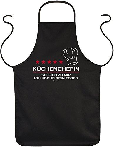 lustige Schürze Kochschürze für Frauen Damen - Küchenchefin - Geschenke Mama Freundin Geburtstag Weihnachten Geburtstagsgeschenk