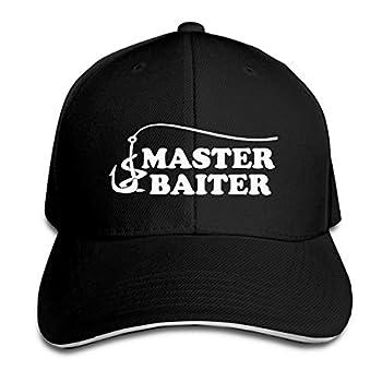 Fishing Master Baiter Hook Lure Hat Baseball Cap Duck Tongue Cap Fashion Cap Black