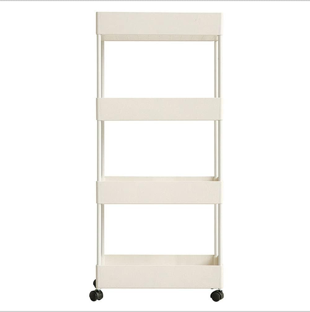 Jopuzia 4-Tier Boston Mall Slim Rolling Cart Award Cu Shelves Storage Hanging with