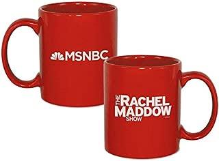 The Rachel Maddow Show Logo Ceramic Mug, Red 11 oz - Official Mug As Seen On MSNBC
