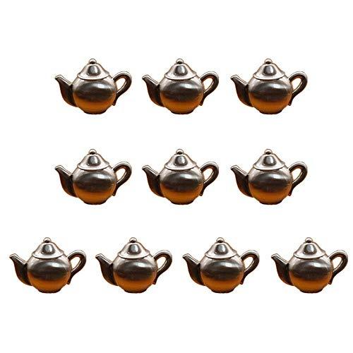 Handvat van de deur Retro Antiek Brons Kleur Theepot Shape Handle kabinet Boekenkast keukenla Tea Theme Pull Handles Set / 10st Geschikt for woonhuis, kantoorgebouw Door handle