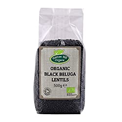Flat Shipping Rate 100% premium organicBlack Beluga Lentils from Hatton Hill Organic Sealed bag Produced to the highest standards Certified organic by the Soil Association