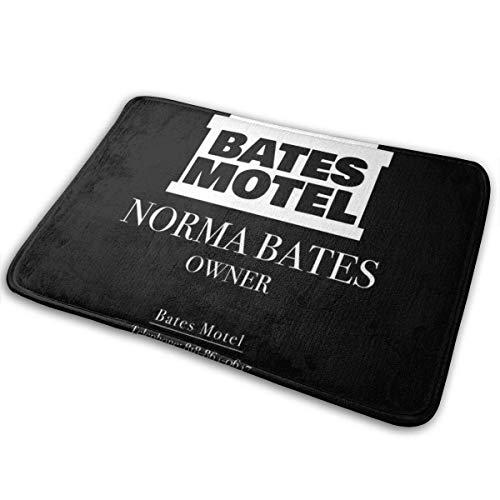 D-M-L 40X60cm Norman Bates Motel Propietario Tarjeta de Visita Alfombrilla para Puerta, Antideslizante Absorbe rápidamente la Humedad y resiste Las alfombras de Suciedad