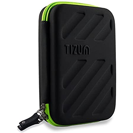 Tizum Portable Electronic Travel Gadgets & Accessories Organizer Multipurpose Pouch, Rugged Travel Friendly (Black)