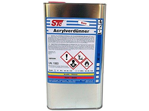 STC 2K Acrylverdünnung kurz 5L Farbverdünner Lackverdünner 2K Acryl Verdünnung Acrylverdünner lösemittelhaltig (5L Kanister)