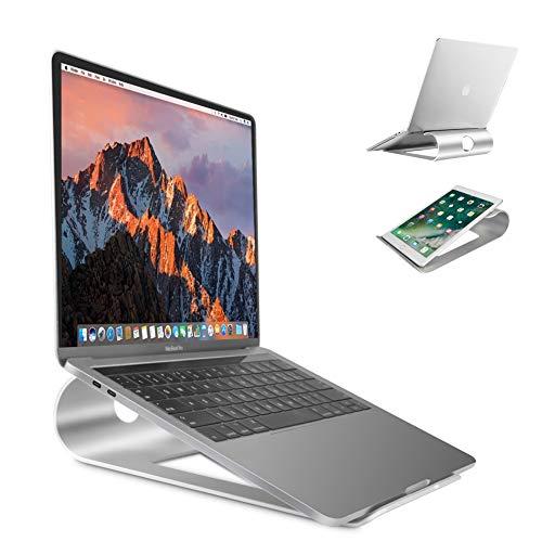 Laptopständer belüftet Stand aus Aluminium Schreibtisch Ständer Rutschfestem Silikon-Polster Alulegierung Cooling für Apple Macbook, iPad, Asus, Acer alle 15