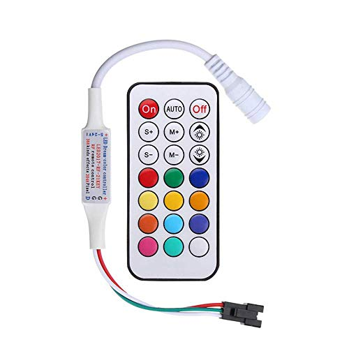 RGBZONE DC5-24V Mini 21 Key RF Remote Controller for WS2811 WS2812B LED Dream Color Strip Light