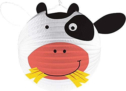 Set : Lampion + tige * Süsse Vache * comme ou Jeu de décoration pour anniversaire d'enfant, ou carnaval/halloween/devise Party Devise Lanterne Farm Ferme Animaux