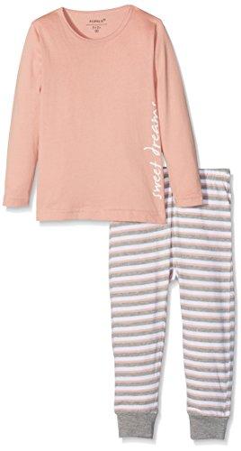NAME IT Baby-Mädchen NMFNIGHTSET NOOS Zweiteiliger Schlafanzug, Mehrfarbig (Rose Tan), 98
