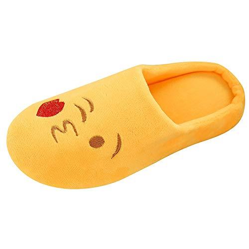 Zapatillas de casa Mujer Forro algodón Ultraligero cómodo y Antideslizante Pantuflas de casa para Mujer Zapatillas de casa Suaves de Felpa cálidas Zapatos de Dormitorio para Interiores