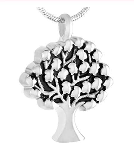 laoniu Collar de Cenizas Cilindro de Crema Cenizas de Hueso Colgante de árbol joyería Conmemorativa Collar de Recuerdo de Hueso de Ur Precio de fábrica