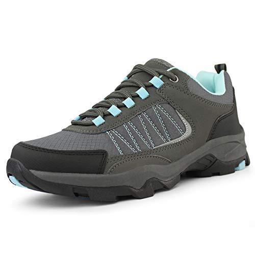 Hawkwell Women's Outdoor Hiking Shoes, Grey Blue PU, 6 M US