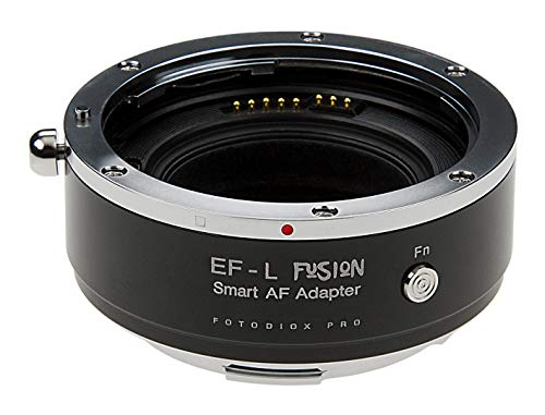 Fotodiox Pro Fusion - Adaptador inteligente compatible con lentes Canon EOS (EF/EF-S) D/SLR en cámaras Panasonic y Sigma L-Mount