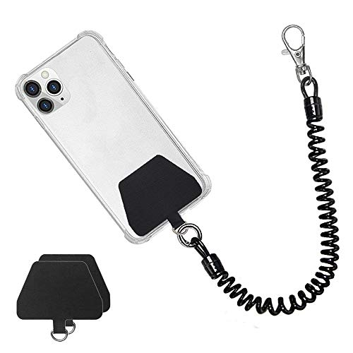Doormoon Phone Lanyard Tether with Patch, Universal Stretchy Lasso Straps and Phone Case Anchor for Anti-drop Outdoor Hiking Cycling Climbing Compatible with iPhone Samsung Pixel Most Smartphones