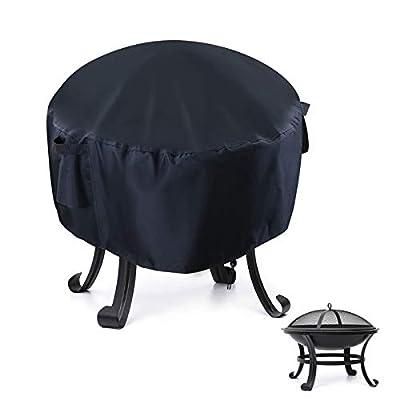 Iptienda Fire Pit Cover - Waterproof Heavy Duty Round Patio Fire Bowl Table Cover (52x37cm) by Iptienda