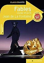Fables - Livres VII à XI de Jean de La Fontaine