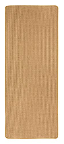 misento Sisal Teppich aus 100% Naturfaser Flachgewebe Webteppich uni,80 x 200 cm