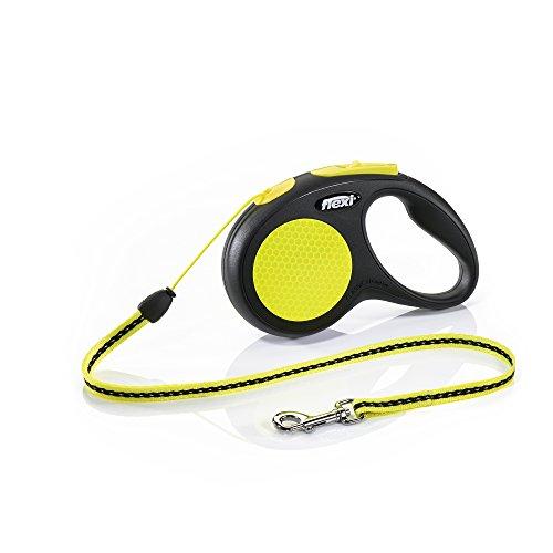 flexi New NEON S Seil 5 m schwarz/neongelb für Hunde bis 12 kg