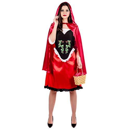 Fun Shack Costume per Adulti Cappuccetto Rosso Vestito e Mantello Personaggio Fiaba da Donna - Taglia L