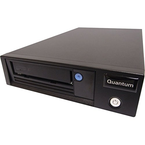 Quantum LTO-7 Tape Drive, Half Height, Tabletop, 6Gb/s SAS, Black incl. 1x Data und 1x Cleaning Cartridge und SAS Cable