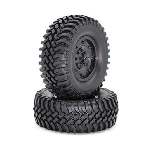 zhouweiwei 1,9 1/10 RC Crawler Truck Wheels Reifen Metall Beadlock Felgen & 100MM Reifen Reifen für RC Rock Autozubehör