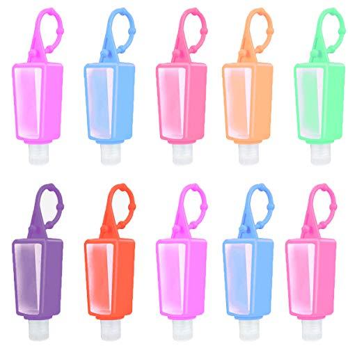 Osuter 20 Piezas Botellas de Viaje Portátiles,30ml Botellas De Viaje Plastico Botellas Vacía Rellenable para Niños