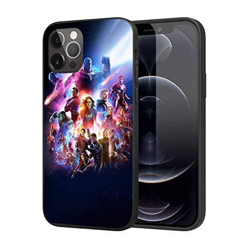 iPhone 12 Case iPhone 12 Pro Case, Feel Comfortable Comics Case Plastic Cover Case (Avengers)