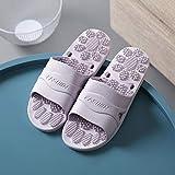 B/H Zapatillas para Masaje de pies,Zapatillas de Masaje de Fondo Suave, Sandalias Antideslizantes-Violeta_38-39,Masajes Playa Chanclas