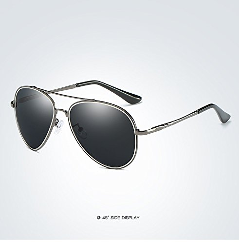 HUBINGRONG Fashion Polaroid Lens lente Scharnier Metal Fashion Design Zonnebril Zwart Merk Pilot zonnebril Mens gepolariseerde Driver Mirror Sunglasses (Color : 2)