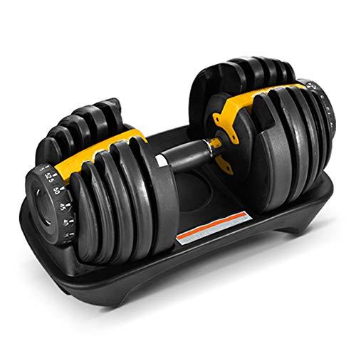 ZJJ Fitness einstellbare Hantel, schwere Langhantel 15 Stufen der Schwerkrafteinstellung, dünne Arme Bodybuilding Training Sportgeräte Fitnessstudio Heim für Frauen und Männer,Gelb
