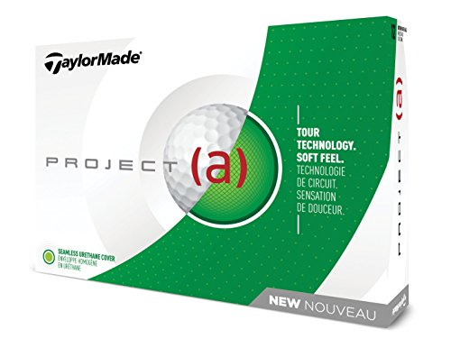 TaylorMade Project (a) Golf Balls, White (One Dozen), Large