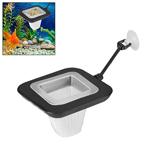 Feeding Ring Aquarium, Aquarium Feeder Live Gefrorene Artemia Fisch Essen Feeder Futtersieb mit Sauger Fisch Fütterung Station für Roter Wurm