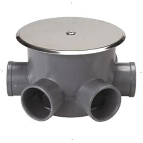 Crearplast c-140 - Bote sifonico pvc 110mm con tapa diámetro 40x50