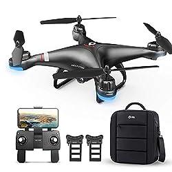 Holy Stone HS110G GPS Drohne mit 1080P Kamera HD Live Übertragung für Kinder,RC Quadcopter ferngesteuert mit Follow Me,2 Akkus Lange Flugzeit,Auto Rückkehr,APP Handy gesteuerte FPV Drohnen mit Tasche