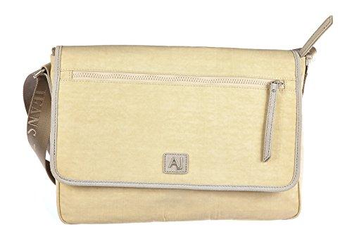 Borsa uomo Armani Jeans messenger suit. laptop nylon beige rif. grigio AJ15CT48