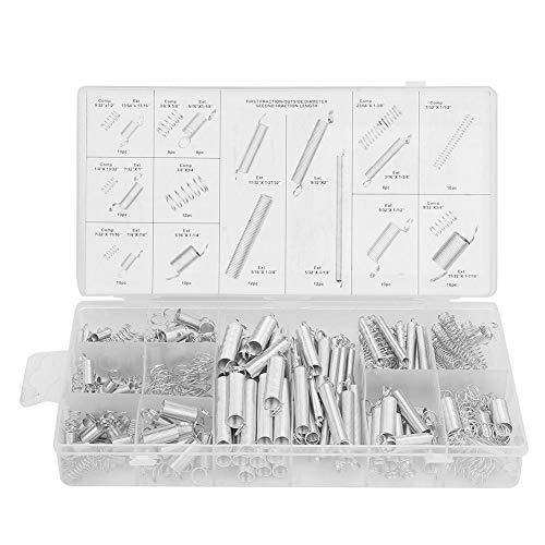 Zugspannfeder Druckfeder Sortiment Federstifte Gemischte Federn Metallfedern Kit mit Box 200 Stücke 20 Größen