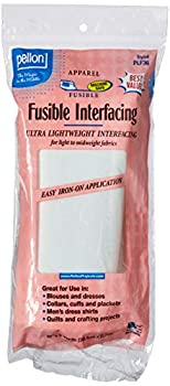 Pellon White PLF36 Ultra Lightweight Fusible Interfacing 15  x 3 Yards Package