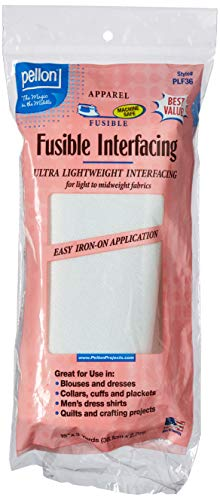 "Pellon, White, PLF36 Ultra Lightweight Fusible Interfacing, 15"" x 3 Yards, Package"