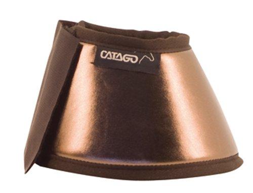 CATAGO Hufglocken METAL LOOK - L - bronze/braun