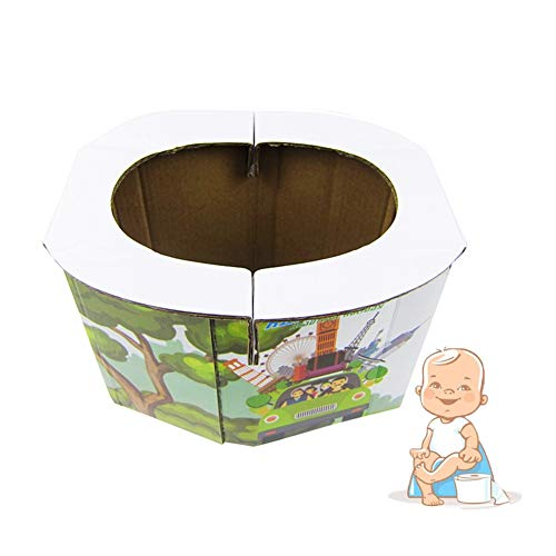 WDSZXH Orinal Plegable para Niños, Inodoros Portátiles Instantáneo con 15 Bolsas Cordón para Bebés Acampar Viajar Senderismo (Size : 10/Pack)