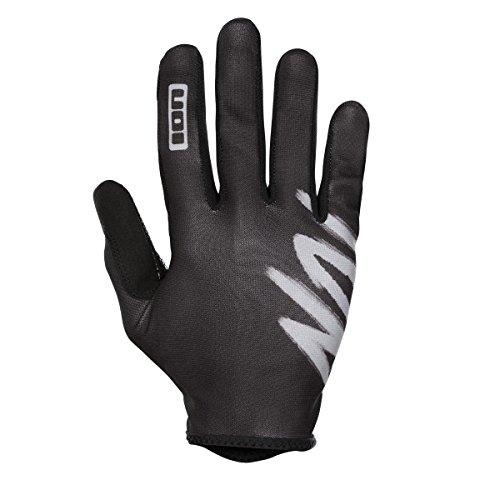 Ion Dude MX DH FR Fahrrad Handschuhe lang schwarz/weiß 2018: Größe: S