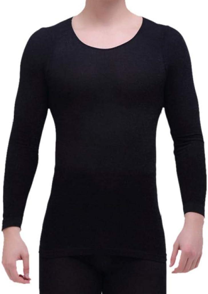 Mens Ultra Soft Winter Warm Base Layer Top and Bottom Thermal Set Stretchy Long John Black