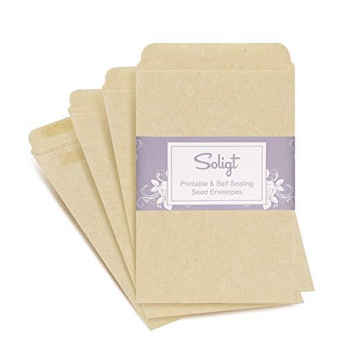 "Soligt Self-Sealing, Printable Seed Packet Envelopes - 100 Counts, 3"" x 4.5"""
