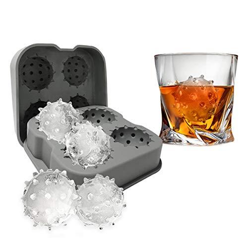 ウイルススパイクボール型 まるい氷 丸氷 製氷 氷トレー アイスボールメーカー シリコントレイ ウイスキー...
