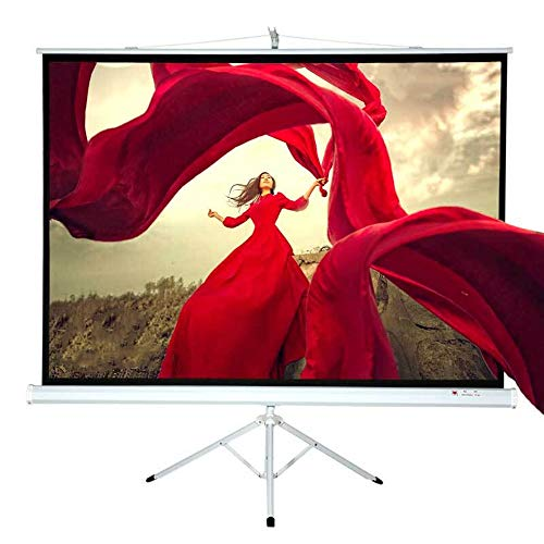 Yuehjnba Projection Screen Projector Screen with Frame 4:3 HD Outdoor/Indoor Movies Screen Foldable Movie Projection Screen for Theater Movie Best Outdoor Movie Screen (Color : White, Size : 75inch)