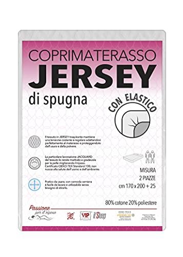 V.I.P. VERY IMPORTANT PILLOW V.I.P. Coprimaterasso in Jersey di Spugna Elastico, Traspirante, Elasticizzato, Matrimoniale cm 170 X 200 h. 25cm