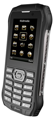 Plum Rugged 4G Unlocked Cell Phone - IP68 Military Grade Water Shock Proof Black (E700blk)
