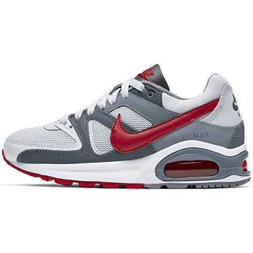 Nike Air Max Command Flex (GS) Sneaker, Grau (Pure Platinum/Gym Red-Dark Grey 009), 35.5 EU