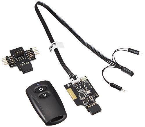 SilverStone SST-ES02-USB - 2.4G Funk-Fernbedienung für PC Power / Reset, USB 2.0 9-Pin