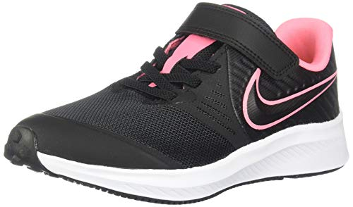 Nike Unisex Kinder Star Runner 2 (Psv) Sneaker, Schwarz Black Sunset Pulse Black White 002, 32 EU